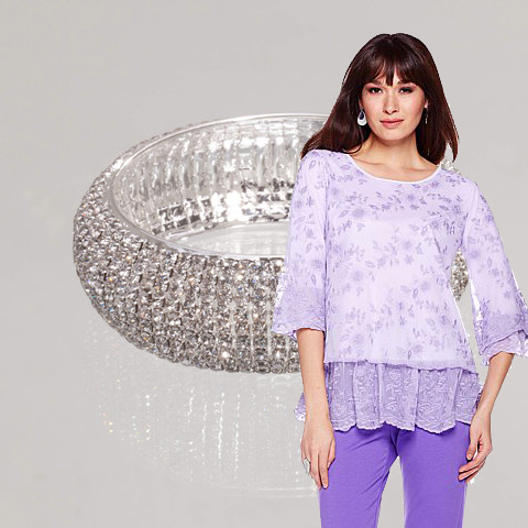 Antthony - Mika Embroidered Ruffled Top Bracelet