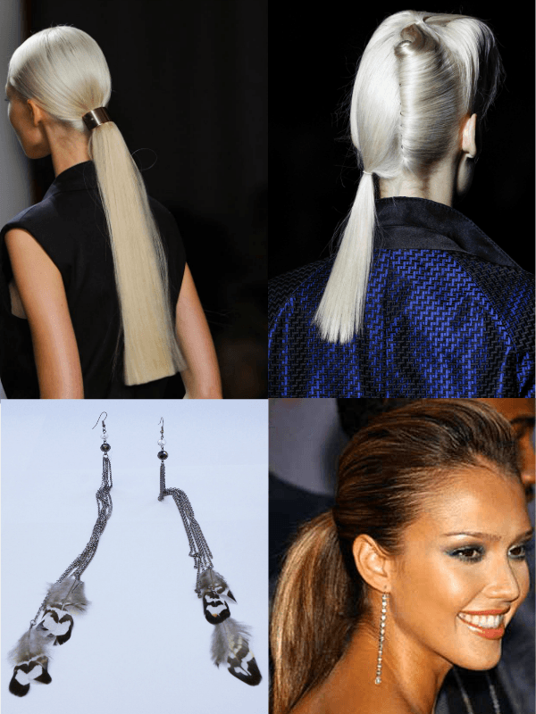 Ponytail And Dangling Earrings - Antthony