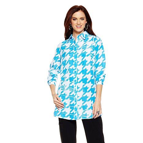 Antthony Dinah Houndstooth Print Shirt