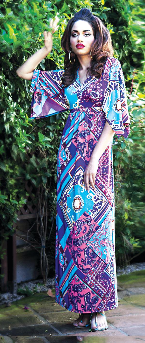 Antthony - Aruba Kimono Sleeve Maxi Dress
