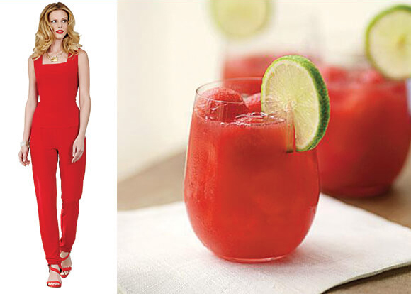 watermelon-sorbet-drink-and-model