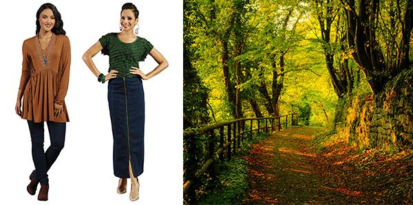 fall-trend-ruffle-and-fringe-denim-skirt-and-leggings