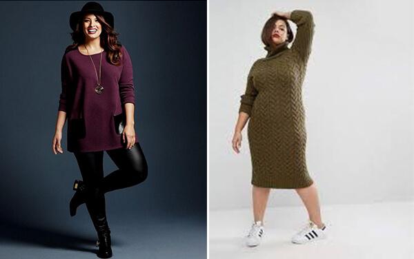 Sweater Dress Styles for Curvy Women